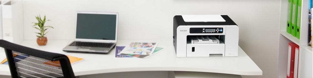 Cartuchos de tinta para impresoras GELJET™ de Ricoh.